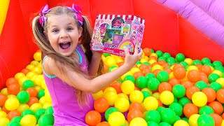 Diana Pretend Play Funny Candy Toy Story - Surprises and Toys Video for Children