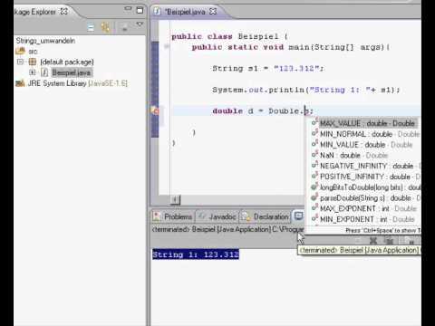Java - String zu Zahl (double) umwandeln