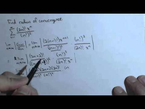 Radius of Convergence Ch8R 4a