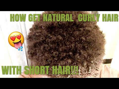 How to get natural curly hair with short hair for men