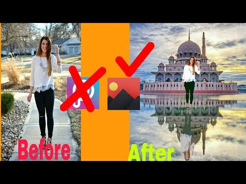 Background Change manipulation in Pixomatic/Photo editing Android App Hindi/Urdu