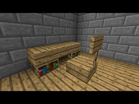 How To Make A Desk In Minecraft –Minecraft Desk Tutorial – How To Build A Desk In Minecraft Tutorial