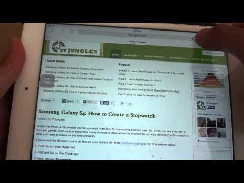 iPad Mini: Set Default Favorite Bookmark Folder