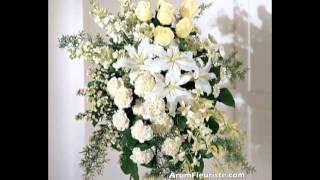 Funéraire fleurs funerailles - Arum Fleuriste Montreal