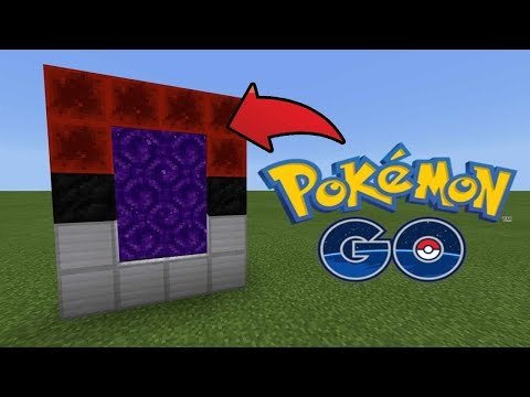 How To Make a Portal to the Pokémon GO Dimension in MCPE (Minecraft PE)