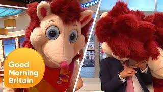 Jeremy Kyle Is Attacked by a Giant Hedgehog!   Good Morning Britain