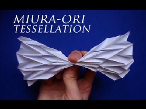 Miura-Ori Origami Tessellation Tutorial