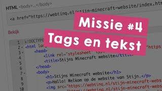 Missie 4: Tags en tekst - Programmeer je eigen website in HTML