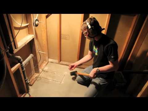 How to Cut Through a Concrete Foundation - Bathroom Plumbing