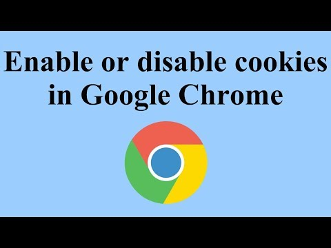 Enable or Disable Cookies in Google Chrome