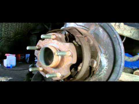 TOYOTA REAR WHEEL BEARING REMOVAL.discs brake type.