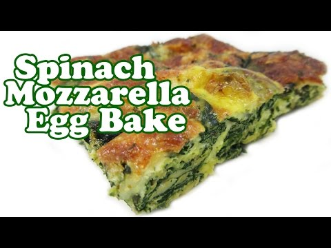 Breakfast Casserole Recipes - Egg Bake Recipe - Eggs Spinach Mozzarella Cheese Casseroles - Jazevox