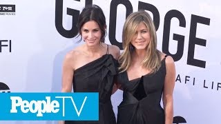 Courteney Cox Says What Happened During Jennifer Aniston's Birthday In-Flight Emergency   PeopleTV