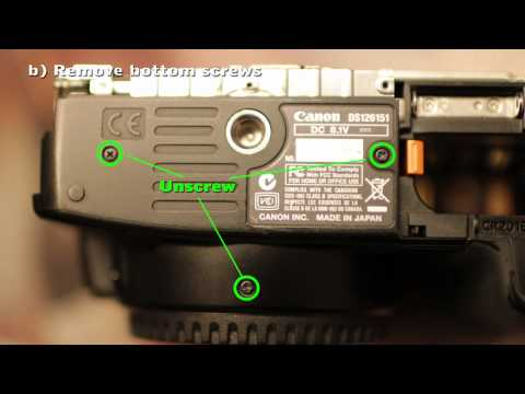 How to replace the shutter on a Canon 400D XTi