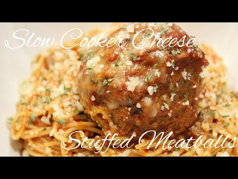 How to Make Slow Cooker Mozzarella Cheese Stuffed Meatballs Using the Breville Smart Oven Air (080)