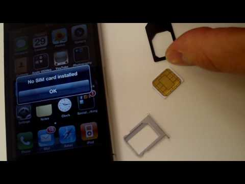 Cut SIM to MicroSIM - How to guide - t-mobile, verizon, AT&T, sprint, iphone 4, ipad