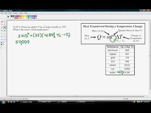 Heat   Final Temperature During Heat Transfer