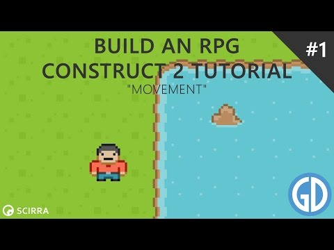 1. Build an RPG - Movement (Construct 2 Tutorial)