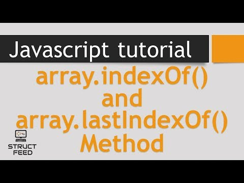indexOf and lastIndexOf in JavaScript Arrays
