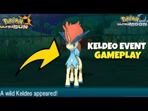 POKEMON ULTRA SUN AND MOON   KELDEO EVENT GAMEPLAY (HOW TO GET KELDEO)