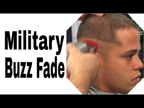 Military Buzz Cut - Military Buzz Fade - Military Fade Tutorial