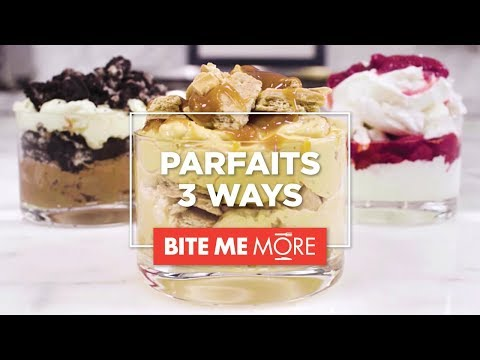 EASY NO-BAKE DESSERT RECIPE - Parfait 3 Ways