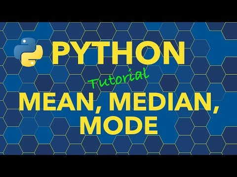 Python Calculate Mean Median Mode