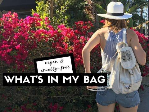 WHAT'S IN MY BAG vegan + cruelty-free   cityloveee