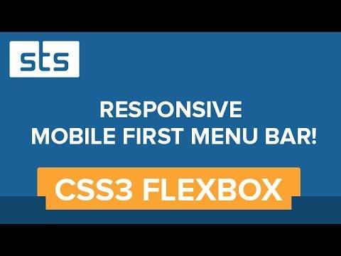 Responsive Navigation Menu Bar - CSS3 Flexbox Mobile First Design | Youtube Video Tutorial