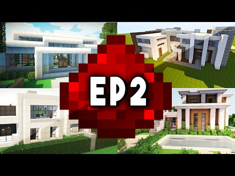 Let's Build: MODERN REDSTONE HOUSE EP 2 - Secret Redstone Armory!
