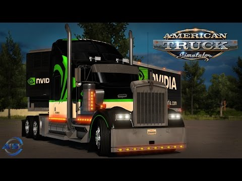 American Truck Simulator: NVIDIA W900 and Trailer - Fargo ND to Grand Forks MN