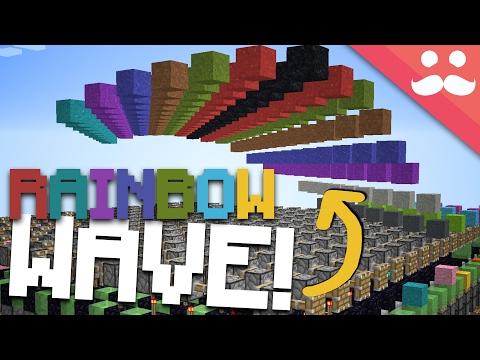 Minecraft Piston Rainbow Wave