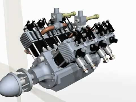 8 Cylinder Internal Combustion four stoke Aero Model V8 Engine Plans .pdf
