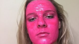 Woman Roasted After Staining Face HOT PINK in Stunt Gone Wrong | What