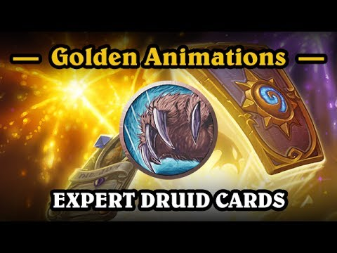 HearthStone - Golden Druid Cards (All Expert Cards)