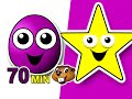 Grapes Shapes Collection Kids Learning Video Compilation Tea