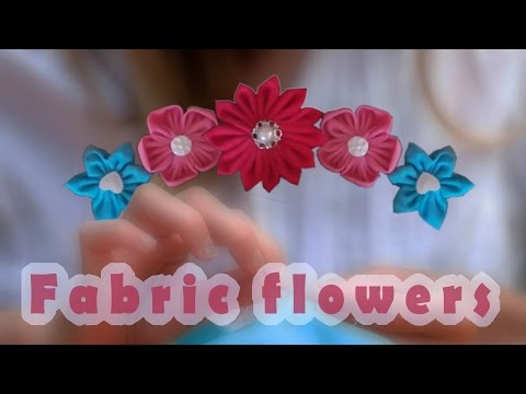 DIY fabric flowers for button bouquets, hair accessories and more...
