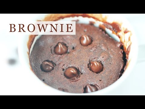 Chocolate Brownie In Mug - 5-Ingredient Microwave Recipe