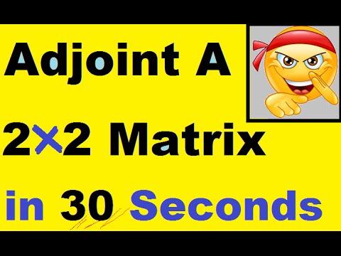 How to Find Adjoint A of a 2x2 matrix {SHORT_CUT}