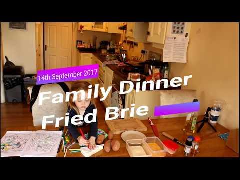 Vlog 5;Family Dinner  Deep Fried Brie