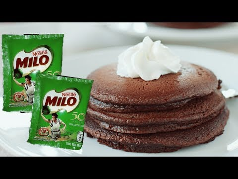 How To Make Milo Pancake    Philippines    Mar Mendoza