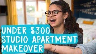 Studio Apartment Makeover for Under $300! | Mr. Kate Decorates