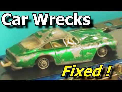 Wrecked Toy Cars Made Good - coche de juguete -carro de brinquedo