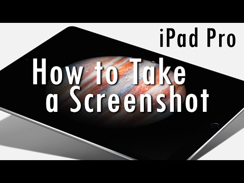 iPad Pro - How to Take a Screenshot