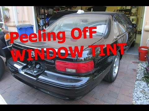Tips when removing WINDOW TINT Glue