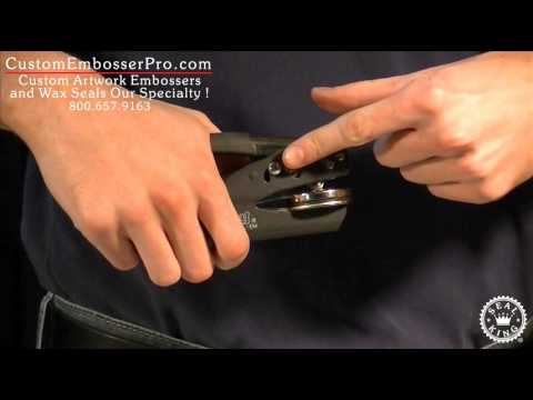 Custom Embosser Pro: How To Unlock a Hand Held Embosser