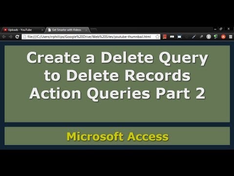 Use a Delete Query in Access
