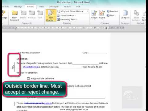 Working With Track Changes In Microsoft Word