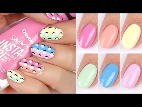 3D Dot Nail Art + Sally Hansen x Crayola Spring Fling Swatches!