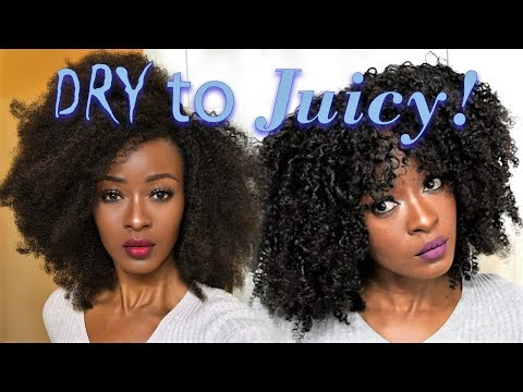 The Juiciest Wash-n-Go On Natural Hair Extensions | Queen Weave Beauty